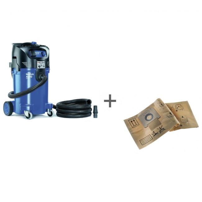Промышленный пылесос Nilfisk ATTIX 50-21 PC + Комплект пылесборников Nilfisk 5 ATTIX 3 в подарок!
